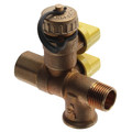"1/2"" Pro-Pal Full Port Brass Ball Valve w/ Hi-Flow Hose Drain (600 WOG)"