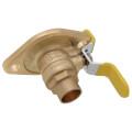 "3/4"" Sweat Uni-Flange Isolator Ball Valve w/ Detachable Rotating Flange, Lead Free (Pair)"