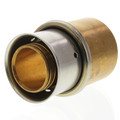 "1-1/4"" PEX Press Copper Pipe Adapter w/ Attached Sleeve (Lead Free Bronze)"