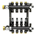 4-Loop EP Radiant Heat Manifold Assembly w/ Flow Meters