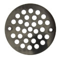 "4-1/4"" Oil Rubbed Bronze Stamped Strainer"