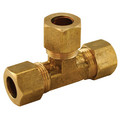 "(64-4) 1/4"" OD Brass Compression Tee (Lead Free)"