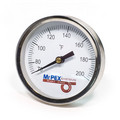 """Strap-On Pipe Thermometer for 3/8""""-1.5"""" Pipe, 0-248F"""