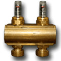 "4 Loop 1-1/4"" Supply manifold w/ Balancing Valves & Flow Meters (Includes Mounting Bracket) (EK20)"