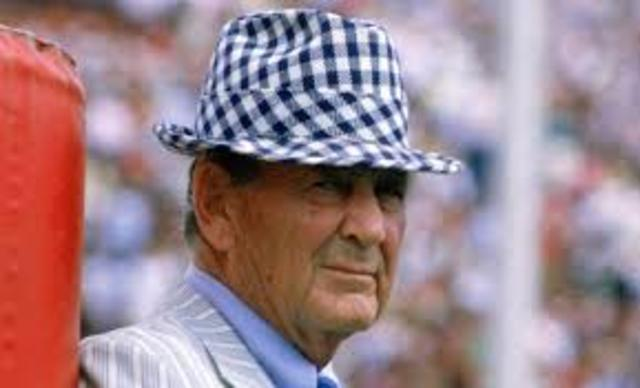 Legendary Coach Bear Bryant for The University of Alabama