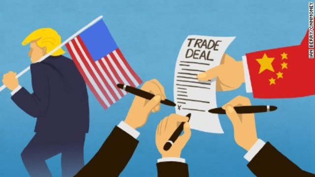 United States and China Trading