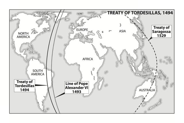 Treaty of Tordesillas.