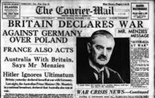 Britain Declares war on Germany