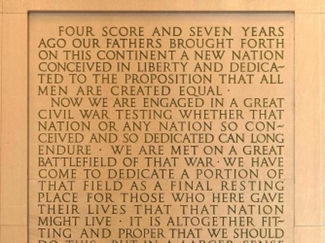 a description of the gettysburg address