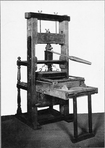 world history on the printing press The printing press impacted society by allowing a large amount of written copies to be published at one time the printing press also lead to.