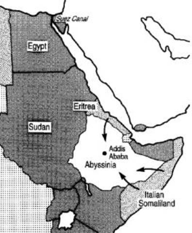 Italy conquered Abyssinia
