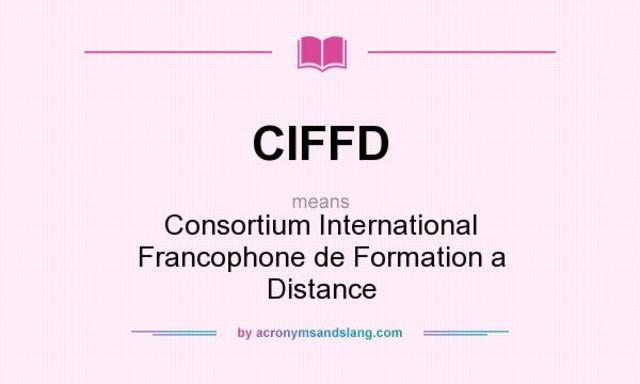 Consortium International Francophone de Formation à Distance