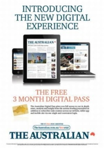 The Australian announces paywalls for content
