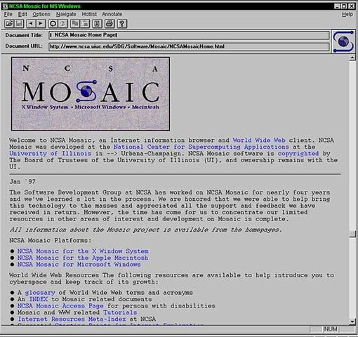 First online web browser