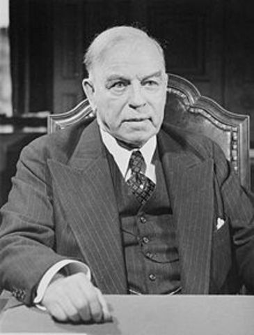 William Lyon Mackenzie King serves for the first time as Prime Minster of Canada