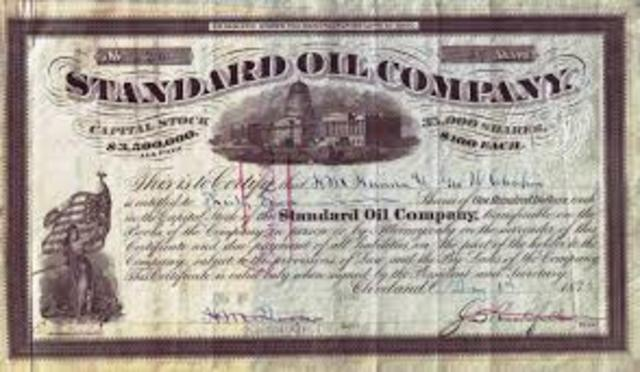 26.	The Organization of Standard Oil Trust