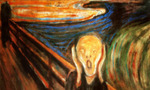 The scream  landscape