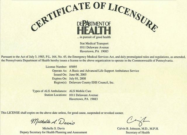 Medical License introduced