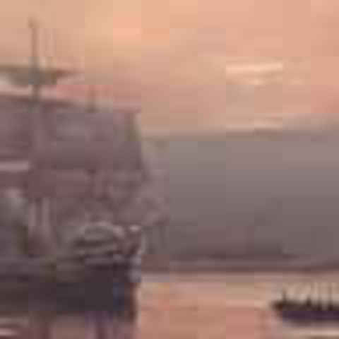 Departure of The Mayflower from Plymouth Harbor