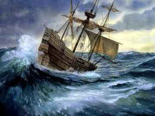 Violent storms blow the ship offtrack.
