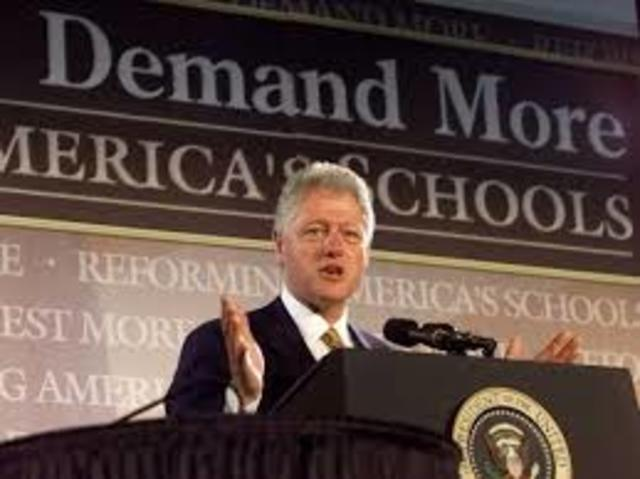 Bill Clinton gives choices in Education