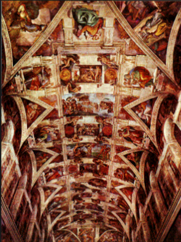 Michelangelo begins painting the Sistine Chapel