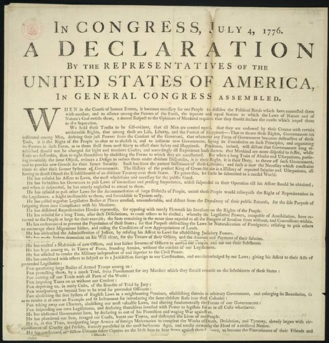 Declaration of Independence of the United States of America