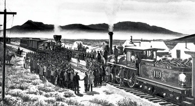 •	Transcontinental Railroad Completed