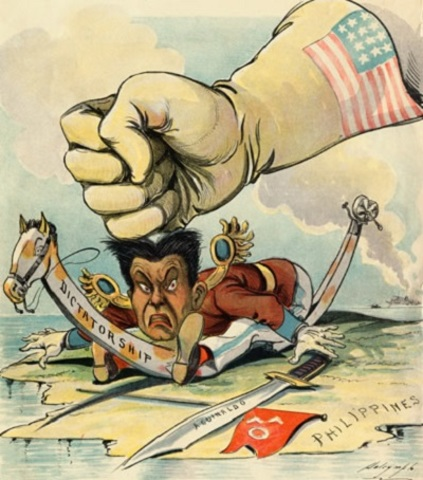 political cartoon spanish american war Download this stock image: the spanish american war, political cartoon showing uncle sam bidding goodbye to sapin after conquering cuba, from puck, 1900 - btkar9 from alamy's library of.