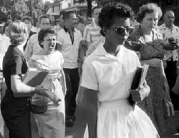 Little Rock nine attend school