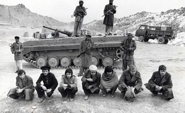 The first Soviet troops invaded Afghanistan
