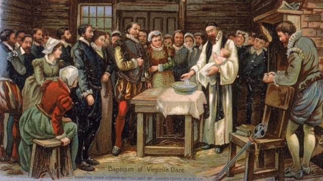 Founding of the Roanoke colony (the lost colony).