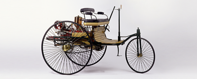 First Automobile Made Running on Gas