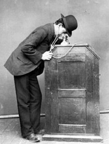 Edison invents the Peephole Kinetoscope