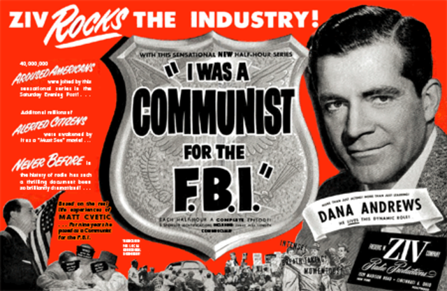 I Was A Communist for the FBI, I Led Three Lives, Red Menace