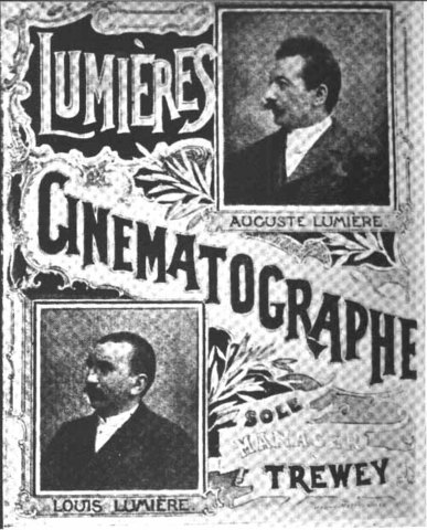 The Lumiere Brothers unveil the first projector for multiple people