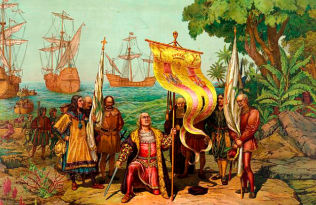 Christopher Columbus Land in the New World