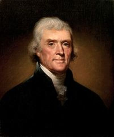 Thomas Jefferson was elected president.