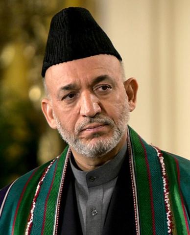 Hamid Karzai Is Elected as President