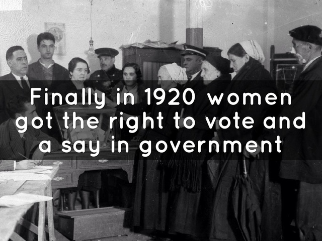 Women Gain Right to Vote