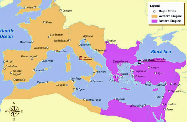 The Division of Rome / Founding of Constantinople