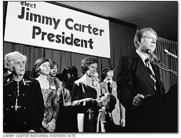 (1976) Jimmy Carter elected U. S. president.