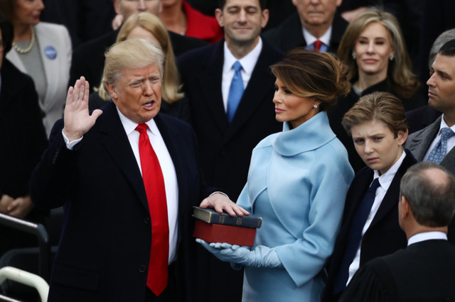 Trump Sworn in