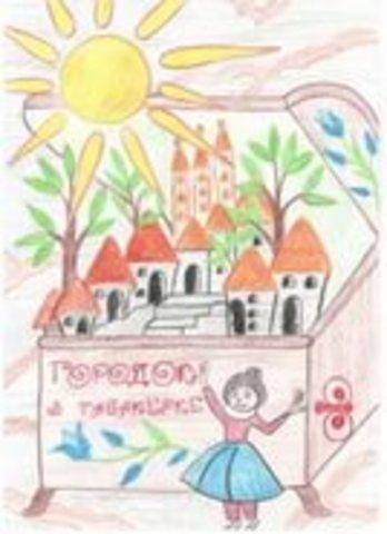 Картинка раскраска городок в табакерке 125