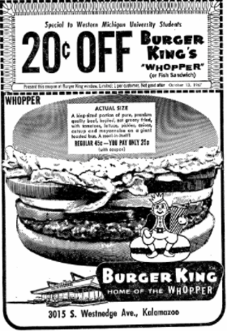 Burger King in 1967