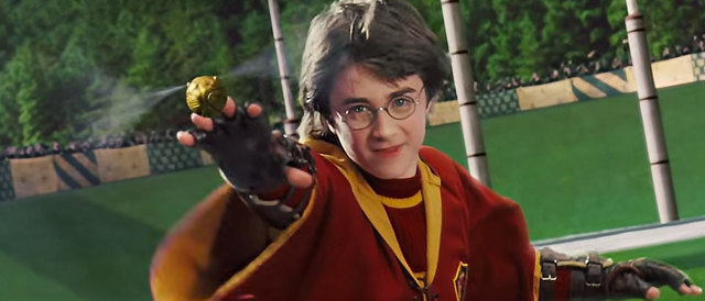 Harry´s first Quidditch match