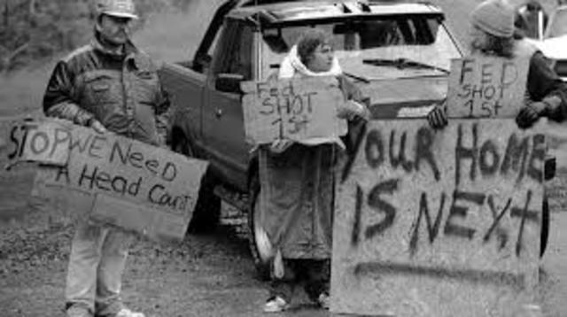 Protesting Events Ruby Ridge
