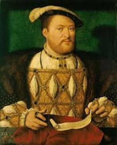 Henry VIII ends papal authority in England