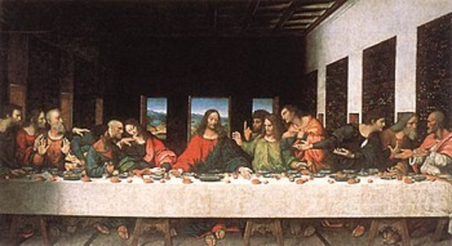 Leonardo da Vinci paints the Last Supper.