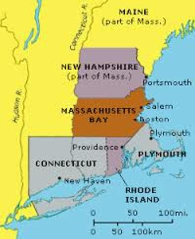chesapeake region vs new england colonies